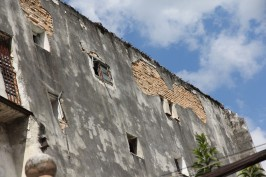 Facades in desperate need of restauration