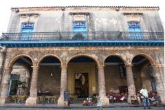 Outside a restaurant in old Havana