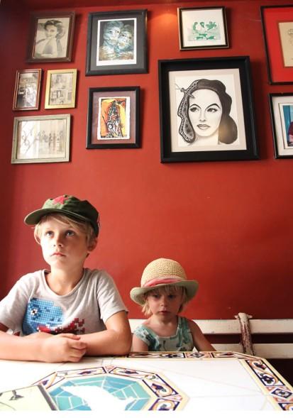 At pitoresque café Arcangel in Havana