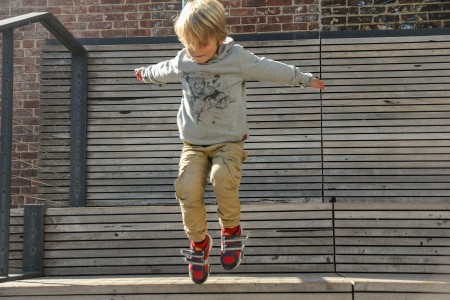 ....when he gets to jump, he´s happy.