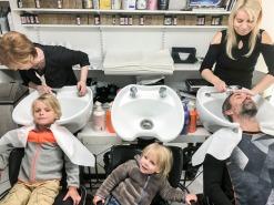 Family haircut.