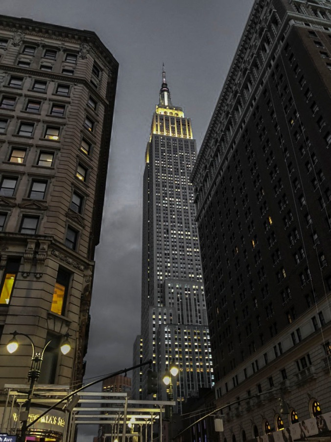 Empire State Building by night.