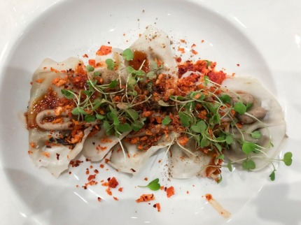 Vegan dumplings at Beyond Sushi